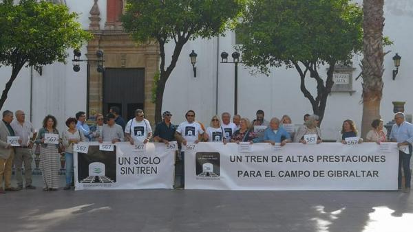 Protesta por un tren Madrid-Algeciras