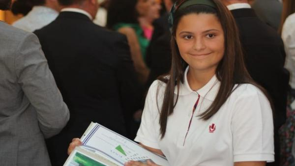 Sevilla.- Daniela García Meléndez, primer accésit de secundaria del Concurso Patrimonio Nacional de Pintura Infantil