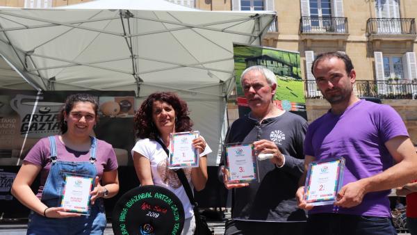 El caserío Mausitxa de Elgoibar, vencedor del XVI Campeonato de Queso Idiazabal de Pastor de Bilbao