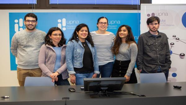 Estudiantes de doctorado del instituto InaMat de la UPNA presentan sus investigaciones apoyándose en una instantánea