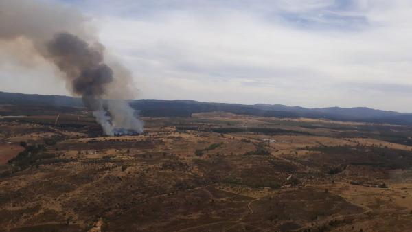 Huelva.- Sucesos.- Declarado un incendio forestal en Cortegana