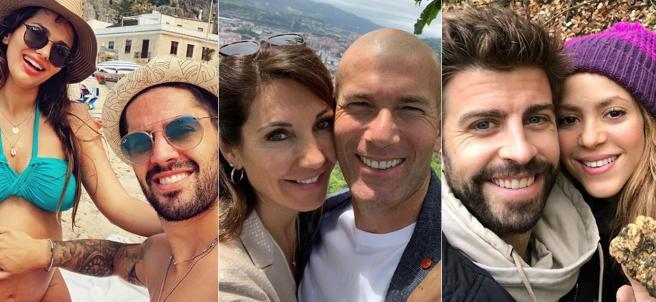 Isco y Sara Sálamo, Zidane y Véronique, Piqué y Shakira