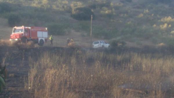 Incendios.- Activado el nivel 1 de peligrosidad por un incendio próximo a casas aisladas en Jerez de los Caballeros