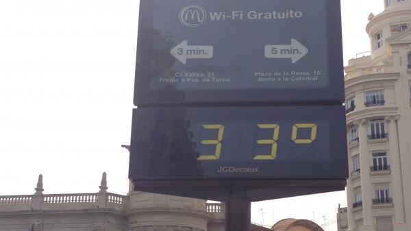 Cielo despejado y temperaturas de 33 grados este martes en la Comunitat Valenciana