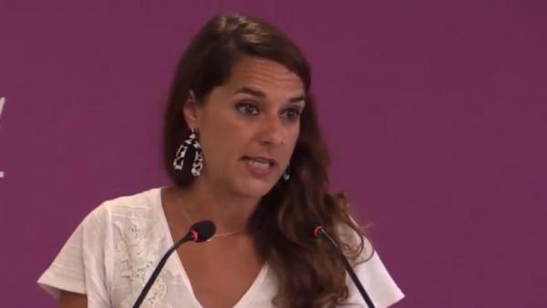 La portavoz adjunta de Podemos, Noelia Vera.