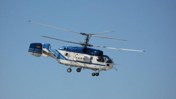 Helicóptero KAMOV para la lucha contra incendios forestales