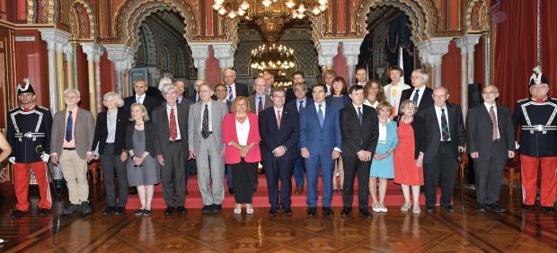 Torres destaca las 'raíces vivas' de BBVA en Bilbao en la recepción a galardonados de Premios Fronteras del Conocimiento