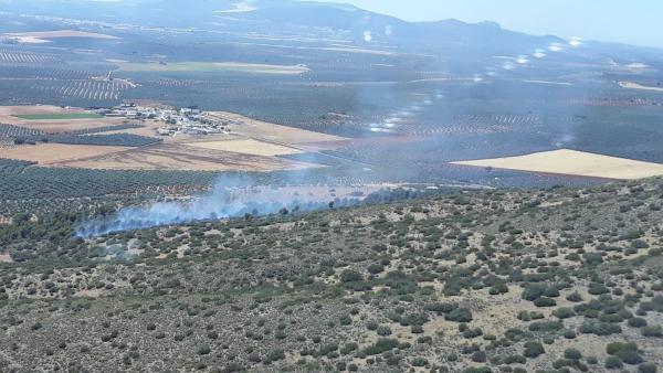 Málaga.- Sucesos.- Controlado un incendio declarado en el paraje Los Carvajales de Mollina