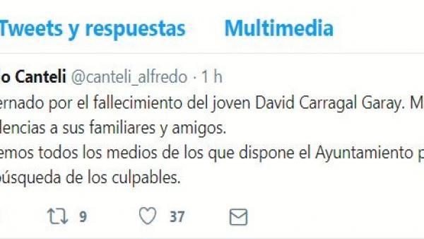 Oviedo.- Canteli utilizará todos los medios del Ayuntamiento para encontrar a los asesinos de David Carragal
