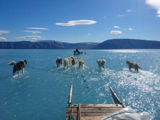 Deshielo en Groenlandia.