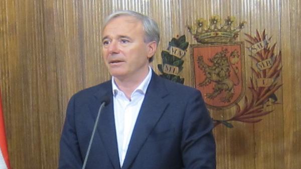 Zaragoza.- El alcalde señala que el reparto de áreas 'no va a tardar demasiado'