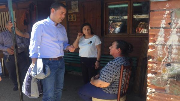 De la Rosa anuncia un programa de realojo para acabar con 'El Encuentro', último poblado chabolista de CyL