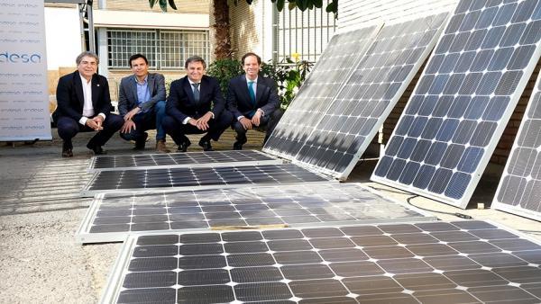 Sevilla.- Endesa  cede 30 placas solares al proyecto Aura de regeneración urbana del equipo Solar Decathlon de la US