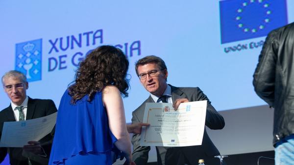 Feijóo destaca la importancia de la formación y asegura que Galicia es 'pionera' en la acreditación de competencias