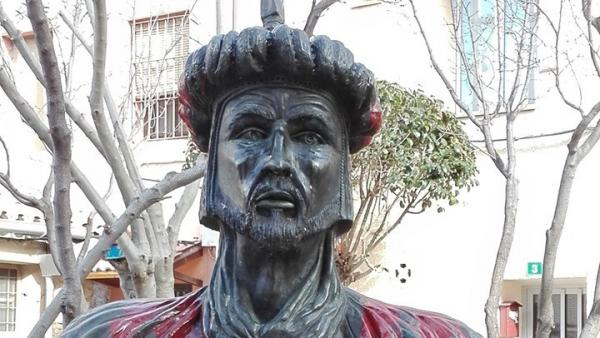 Retirada del busto de Abderramán III en Cadrete (Zaragoza)