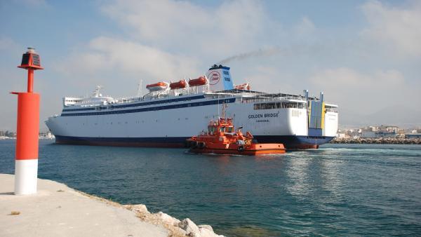 Granada.- Puertos.- Llega a Motril el buque Golden Bridge, de FRS, que hará la línea de Melilla