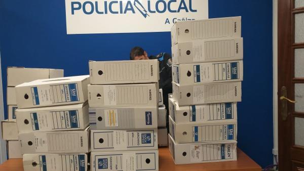La Guardia Civil se incauta de vídeos del Ayuntamiento de A Cañiza tras la denuncia por la retirada de documentos