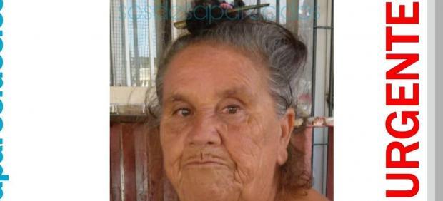 María anciana desaparecida
