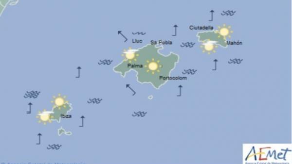Predicción meteorológica para este miércoles 19 de junio en Baleares: cielo poco nuboso con nubes altas
