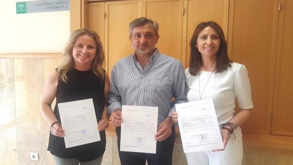 Almería.-Los concejales de PP en Berja María Luisa Cruz y de Vox en Adra Juan José Ibáñez, nuevos diputados provinciales