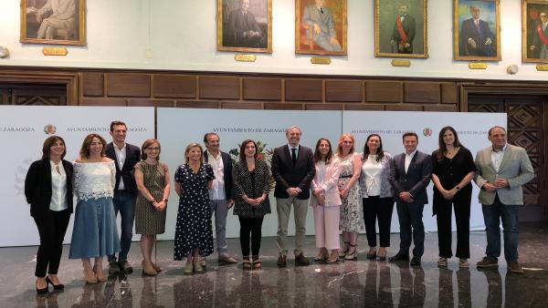 AMPL.-Zaragoza.- PP y Cs diseñan un gobierno con ocho áreas que favorecerá 'un futuro innovador' en la capital aragonesa