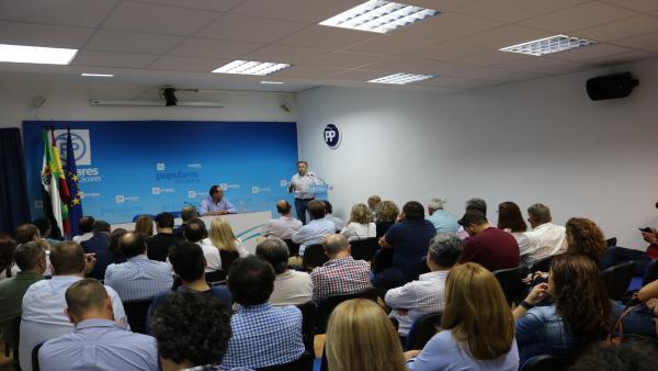 El PP designa a los nueve diputados que formarán el Grupo Popular en la Diputación de Cáceres en la nueva legislatura
