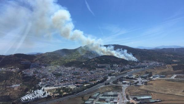 Málaga.- Sucesos.- Estabilizado el incendio forestal declarado en Casabermeja