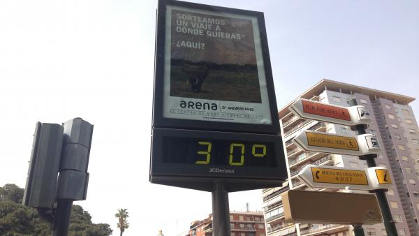 Nubes altas y máximas de 30º este jueves en la Comunitat Valenciana