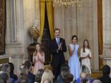 Acto de imposición de condecoraciones de la Orden del Mérito Civil en el Palacio Real