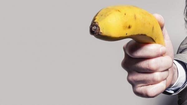Plátano como arma