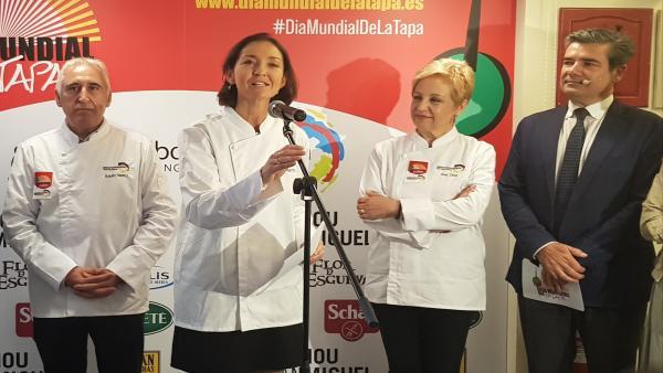 Reyes Maroto: 'La tapa es Marca España y eso hay que potenciarlo'