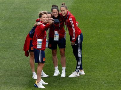 Jugadoras de la selección española femenina de fútbol
