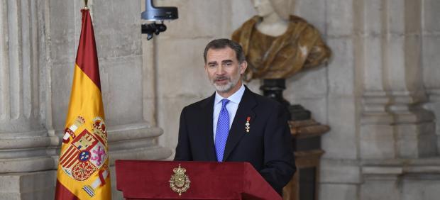 Felipe VI en su quinto aniverario como Rey de España