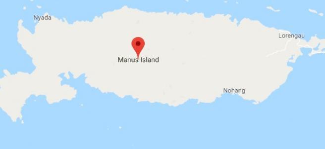 Localización de la Isla de Manus.