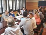 Reunión del equipo negociador de ERC, el Comú de Lleida y JuntsxLleida