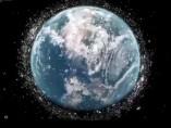 Imagen de la basura espacial orbitando alrededor de la Tierra