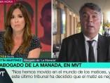 Agustín Martínez y Mamen Mendizábal durante la entrevista.