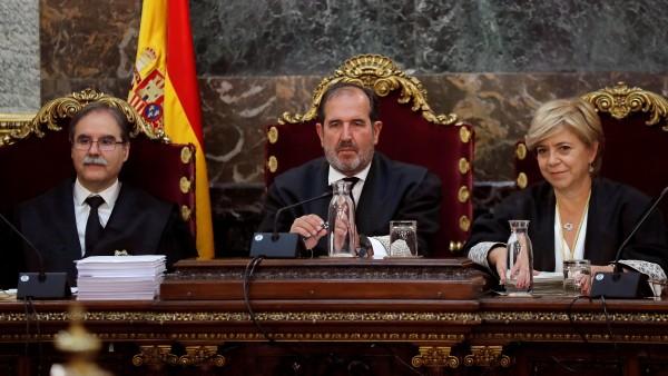 Los magistrados Andrés Martínez Arrieta, Andrés Palomo y Ana Ferrer