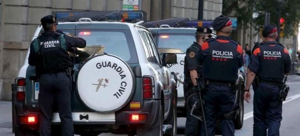 Guardia Civil y Mossos d'Esquadra