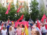 Concentración en Pamplona contra la política de pactos del PSN