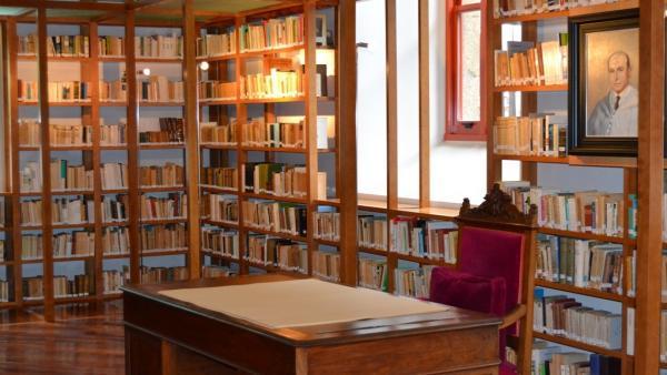 Biblioteca de Ricardo Carvalho Calero en el Parlamento de Galicia.