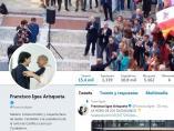 Francisco Igea muestra en su perfil de Twitter una foto suya con Toni Roldán.