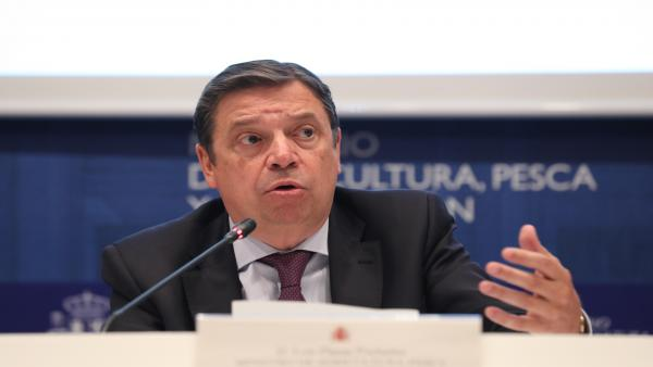 El ministro de Agricultura, Pesca y Alimentación en funciones, Luis Planas, presenta el Informe del consumo alimentario en España 2018 en la sede del Ministerio.