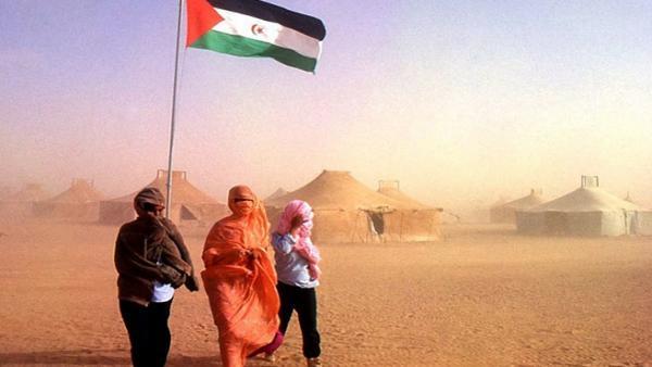 Campo de refugiados en Sahara.