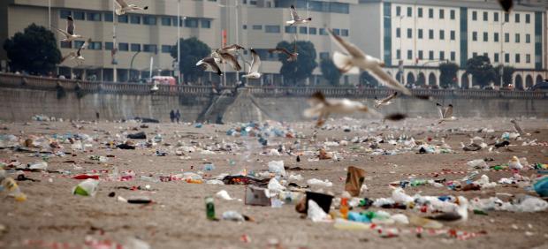Playa de A coruña.