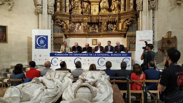 Firma del convenio entre Mapfre y la Fundación Catedral de Burgos