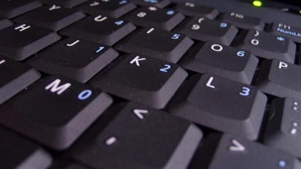 Teclado de un ordenador portátil.