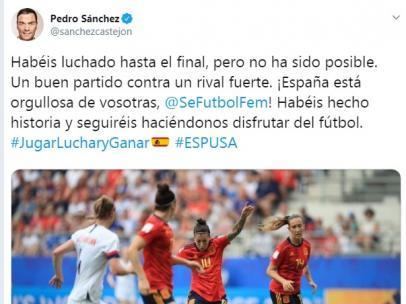 Tuit de Pedro Sánchez