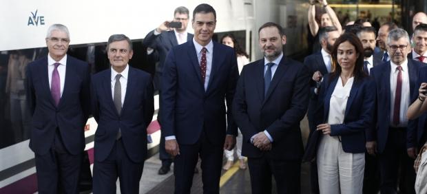 Pedro Sánchez, José Luis Ábalos y Pedro Saura