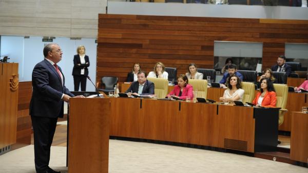 El presidente del PP en la Asamblea de Extremadura, José Antonio Monago